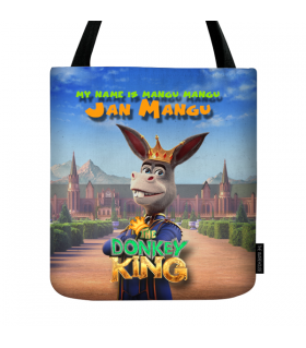 donkey king tote bag